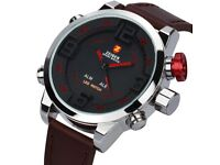 Mens Watches Alarm Multi Time Zone Military