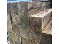"""🌳Tanalised Wooden Posts -4""""X 4""""X 5Ft/8Ft/10Ft -New-🌲"""