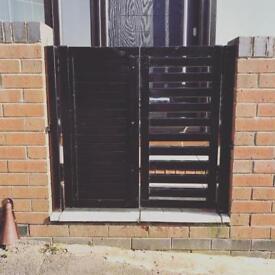 Metal wood steel gates