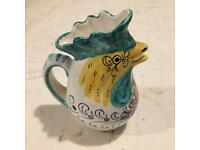 Retro 60's Italian Ceramic Hand-Painted Jug