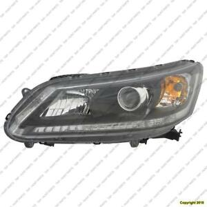 Head Light Driver Side Sedan Halogen Ex/Lx/Sport Models/2.4 Liter Ex-L Honda Accord 2013-2015