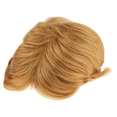 Herren Kurze und Glatte Perücke, Männer Perücke, Blond, One Size, - Kostüm Perücken Männer