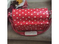 Changing bag red polka dots cath kiddson