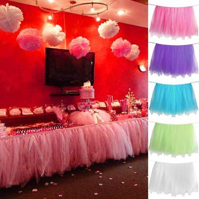 Tulle Table Skirt Princess Ballerina Party Baby Shower Birthday Table Tutu Cover