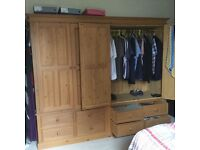 Large double door pine Wadrobe made by Wyre forest furniture store, 1 careful owner