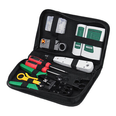 Lan Ethernet Network Cable Tester Crimper Plier Network Maintenance Tool Kit
