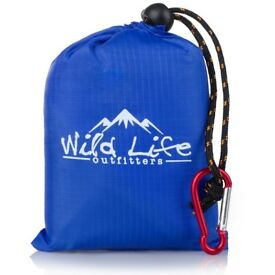 """Compact Portable Pocket Blanket by Wild Life Outfitters Ideal for Camping, Beach, Picnic - 55"""" x 44"""""""