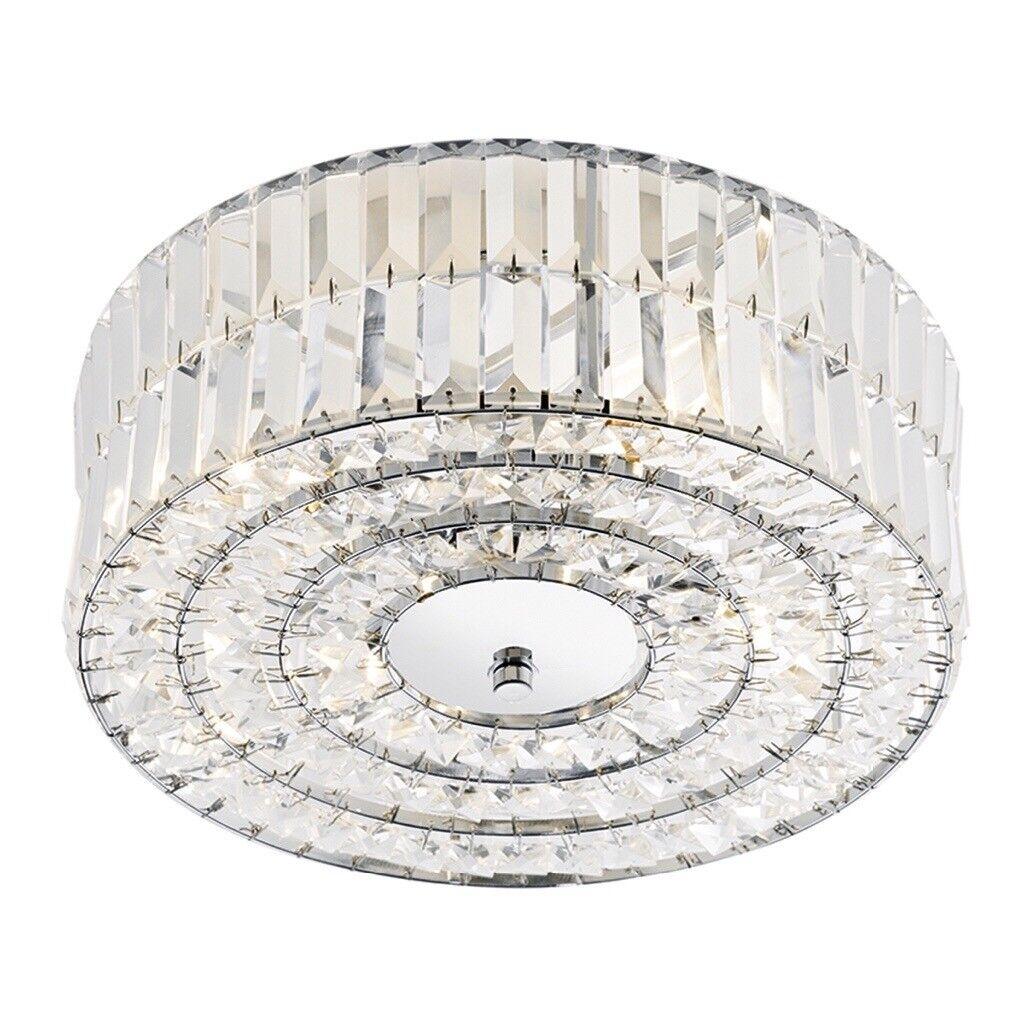 Dar Lighting Errol Semi Flush Crystal Ceiling Light In Knaphill Surrey Gumtree
