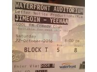 Jimeoin tickets for sale at waterfront
