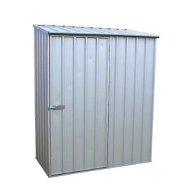 Homebase small metal shed- brand new partially assmebled