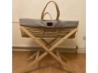 The Little Green Sheep Moses Basket.
