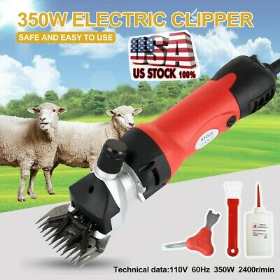 Sheep Goat Shears Clippers Red Electric Animal Shave Grooming Farm Supplies Us