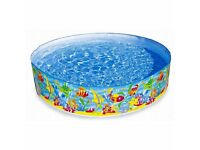 Snapset rigid pool. Size 72'' x 15'' (183cm x 38cm). Great 6 foot pool for all the family.