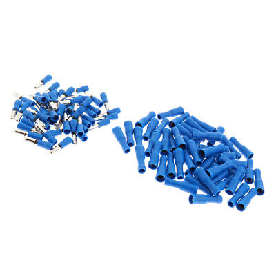 100pcs Heat Shrink Wire Connector Insulated Terminal Connectors Blue