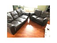 3 & 2 seater Harvey's leather sofas