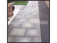 Granite Mid Night Grey Patio Paving | 20mm, 600x600mm | 17.28m² Pack £445 *FREE NATIONWIDE DELIVERY*