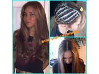 BEST HAIR EXTENSION, HAIR WEAVE AND BRAIDING SERVICES FOR ALL HAIR TYPES.