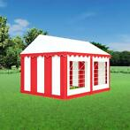 Partytent 3x4 PVC - Classic | Rood / wit