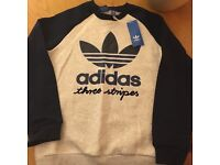 Boys designer clothes Adidas jumper / sweater and body warmer age 11-12