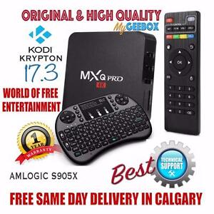 FREE CALGARY DELIVERY - SAMSUNG POWERED MXQ PRO ANDROID 6.0 TV BOX KODI 17.3 - MOVIES, TV SHOWS, LIVE TV, SPORTS