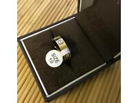 Love band ring with zirconia size 10/R