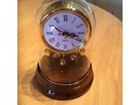 Wood Effect Mantelpiece Clock - Boxed new