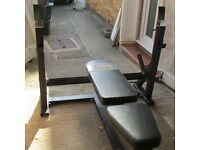 Olympic size, flat/incline weight bench, very strong good condition