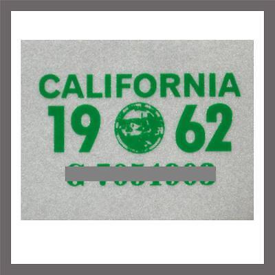 1962 California Yom Dmv Car Truck Trailer License Plate Sticker   Tag Ca 1956 62