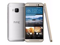 HTC One M9 Gold on Silver Colour (64gb)