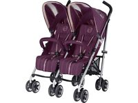Brand New In Box RRP £395 Twinyx Pushchair Twin Pram Suitable From Birth - Purple Stroller