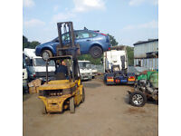 Daewoo 4 Ton diesel forklift, extra long forks with side shift.
