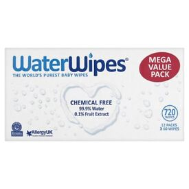 WaterWipes Sensitive Baby Wipes 12 pk, great to use on newborn baby's extra sensitive skin