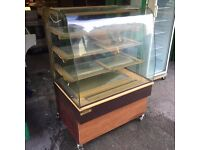 CAKE DISPLAY FRIDGE CATERING COMMERCIAL CAFETERIA PATISSERIE BAKERY RESTAURANT TAKE AWAY SHOP