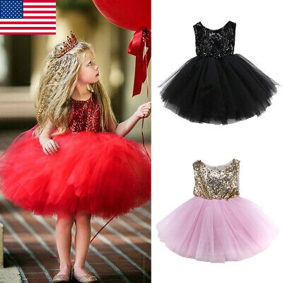Party Dresses Toddlers (Toddler Baby Girl Party Tutu Dress Pageant Wedding Birthday Princess)