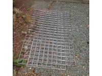 7 x 5 foot x 2 foot metal gridwall panels