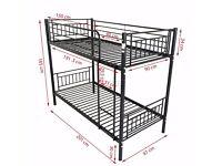 3FT Single Metal Frame Bunk Bed Children Kids Twin Sleeper No Mattress