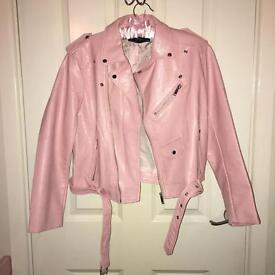 Zara Pink Leather Jacket! *Sold Out!*