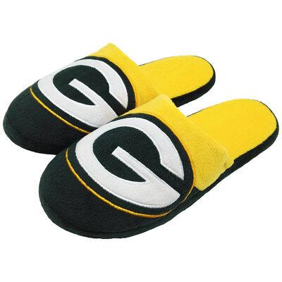 Green Bay Packers Men's Colorblock Slide Slippers Green Bay Packers Mens Slipper