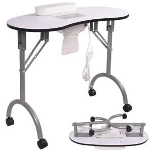 Giantex Folding Portable Vented Manicure Table Nail Desk Salon Spa With Fan - BRAND NEW - FREE SHIPPING