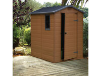 Blooma 6X4 Apex Shiplap Plastic Shed