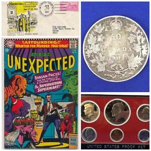 ONLINE AUCTION! HIGH VALUE GOODS! Collectibles, Currency, Stamps, Comic Books, Jewelry +MORE! Ends THURSDAY at 8pm EST!