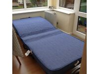 Single Folding Guest Bed and Mattress. Easy