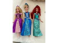 Disney princess light up dolls Cinderella, Rapunzel & Ariel