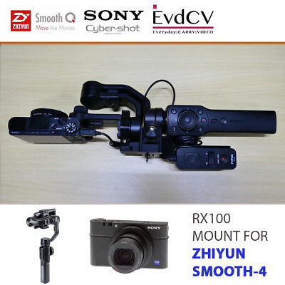 RX100 Mount for Zhiyun Smooth-4 Gimbal with Remote Holder