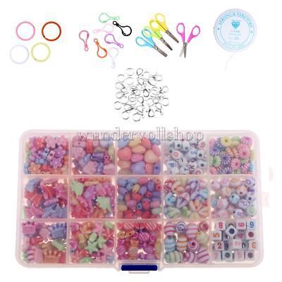 500Pcs gemischte Perlen Kits Set für Kinder Kinder Schmuck machen Handwerk