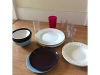 Plates, Bowls and Glasses   FREE IF COLLECTED