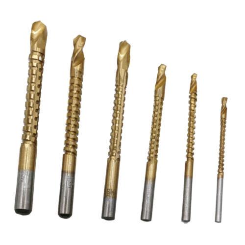 6pcs spiral step drill bits kit