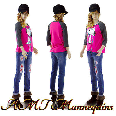 Female Mannequin Realistic Looking Full Body Metal Stand Teen Girl F142wigs