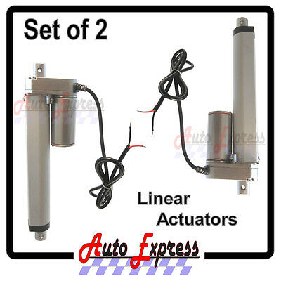Linear Actuators Heavy Duty 6 Inch Stroke 225 Pound Max Lift 12 Volt Dc Set