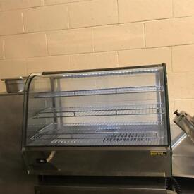 Large chicken warmer heated cabinet pie warmer